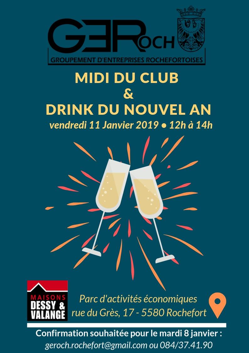 Drink nouvel an Midi du club